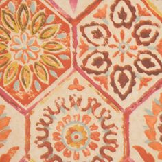 Charming Crimson by RM Coco - $30.10/yard // Pretty pinks and reds... a little lighter