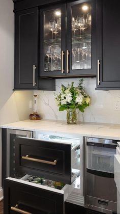 Kitchen And Bath, New Kitchen, Kitchen Decor, Kitchen Design, Kitchen Wet Bar, Kitchen Ideas, Ikea, Home Bar Designs, Organizer