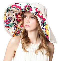 Bienvenu Women Summer Sun Hat Wide Brim Beach Bohemia Fol... https   · Womens  Sun HatSummer SunSummer BeachSummer TravelBig HatsBeach ... 7ef1795b0611