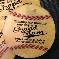 Grand Slam Baseball favor tag by TiaZoeyTeaStained on Etsy,