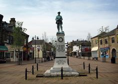 The Centotaph stands proudly in the town centre