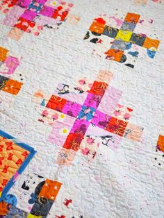 Granny Cabin Quilt - the Darlings One – Then Came June Scrappy Quilts, Scrappy Quilt Patterns, Hand Quilting Patterns, Amish Quilts, Patchwork Quilting, Hexagon Quilt, Tatting Patterns, Log Cabin Quilts, Log Cabin Quilt Pattern