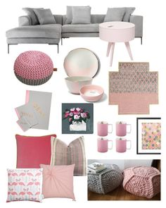 """""""Grey and pink"""" by calibraska13ouat on Polyvore featuring interior, interiors, interior design, hogar, home decor, interior decorating, Andrew Martin, Modena, Bloomingville y Rizzy Home"""