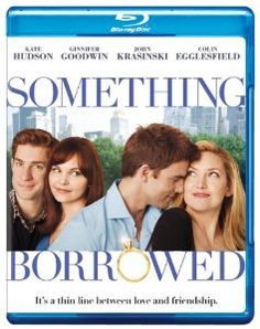 Something Borrowed [Blu-ray]: Rachel (Ginnifer Goodwin) is a generous and loyal pal to her engaged best friend Darcy (Kate Hudson). But after celebrating her 30th birthday, perpetual good girl Rachel unexpectedly ends up in the arms of Dex (Colin Egglesfield), the guy she's had a crush on since law school…and who happens to be Darcy's fiancé.