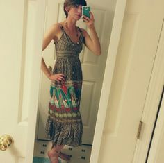 SALE!!! Charlotte Russe Country Sundress This dress is beautiful, comfy and super lightweight! Great for a hot Summer day :) I wore it without a bra and did just fine. Fun to pair with turquoise and multi-colored beaded jewelry! Adjustable button straps Charlotte Russe Dresses Maxi