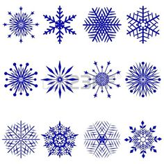 Illustration of Vector collection of snowflake shapes isolated on white background. Snowflakes Art, Snowflake Shape, Christmas Snowflakes, Christmas Stencils, Diy Christmas Cards, Winter Tattoo, Small Projects Ideas, Illustrations, Illustration Photo