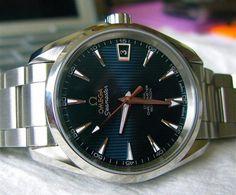 Omega Seamaster Aqua Terra Cal 8500 Blue Dial #Omega #Seamaster #Aquaterra #Watches #Cal8500
