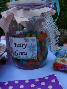 """Fairy Gems"" - Jelly Beans in a jar :)"