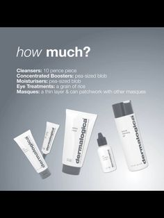 Just to show how little product you need to use with dermalogica