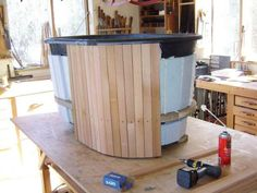 Click on photo for info. cedar hot tub siding