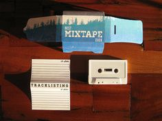 Really nice folded mixtape packaging