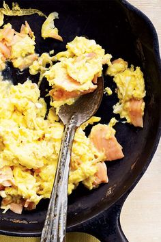 This quick and easy 40-minute smoked salmon scramble recipe incorporates eggs, shallots, smoked salmon, hot sauce and biscuits to create the ultimate breakfast recipe meets seafood recipe. Whether you're looking to make this salmon recipe for a weekday breakfast on its own or eat it alongside bacon or sausage, it's a great choice for a comfort food.#comfortfood #breakfastrecipes #brunchrecipes #salmonrecipes #seafoodrecipes #eggrecipes