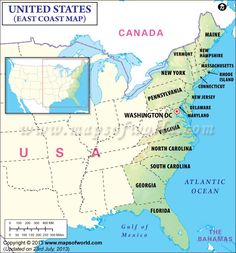 Map of USA Showing point of interest major cities states and