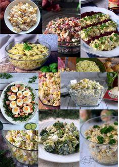 33 propozycje na świąteczne sałatki – Smaki na talerzu Salad Bar, Cobb Salad, Garlic Butter Shrimp, Tortellini, Sprouts, Menu, Vegetables, Cooking, Recipes