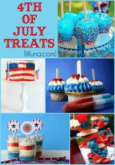 4th of July Treats! YUMMY patriotic goodies for parties and celebrations! { lilluna.com }