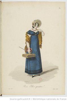 Elève-peintre from Georges-Jacques Gatine, Costumes d'ouvrières parisiennes, 1824, BNF Paris