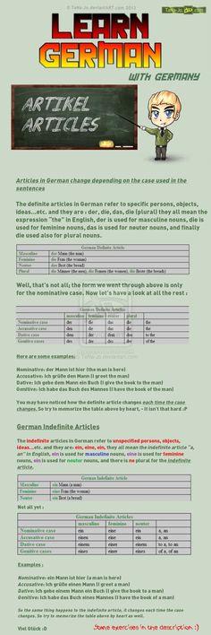 Learn German - Articles by TaNa-Jo on DeviantArt