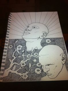 Rise above - stippling art by C. Jagger
