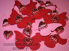 "Valentine butterfly treats ""You make my heart flutter"" | Stuck on Stampin' blog"