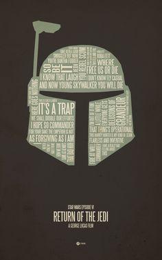 48 Minimal Movie Poster Designs - RETURN OF THE JEDI