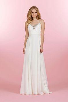 Beach Wedding Dresses: Glamour.com/ Blush by Haley Paige Wedding Dress (Style#1455)- jlmcouture.com- Love it!