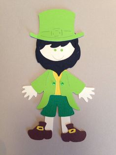 Leprechaun Paper Doll Cricut Die Cut Scrapbook Embellishment   eBay