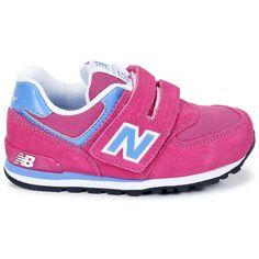 New Balance 574 Kid's Pink Blue Kv574
