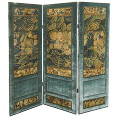 Antique Aubusson Three-Panel Screen | From a unique collection of antique and modern screens at https://www.1stdibs.com/furniture/more-furniture-collectibles/screens/