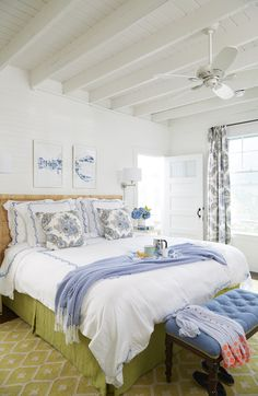 Bright And Fresh Cottage Bedroom