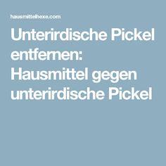 Unterirdische Pickel entfernen: Hausmittel gegen unterirdische Pickel
