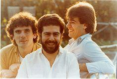 """""""La Smorfia"""", trio formato da Massimo Troisi, Lello Arena e Enzo Decaro."""