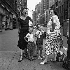 1953 New York Vivian Maier | So much happens out in the streets and she just captures urban exoticism within public spaces.