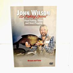 John Wilson Go Fishing Special Dvd Float Fishing Slider Stret-Pegging Bream Carp Dvds For Sale, Carp, Bass Fishing, Sliders, Common Carp, Fishing, Romper