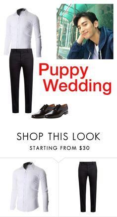 """Sam at Puppy wedding"" by a-t-o-m-i-c ❤ liked on Polyvore featuring Marni, Loake, men's fashion and menswear"