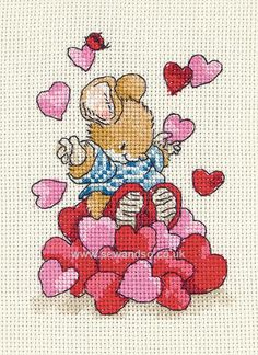 Tom With Hearts Country Companions Cross Stitch Kit Anchor Cross Stitch Heart, Cross Stitch Cards, Cross Stitch Kits, Cross Stitching, Cross Stitch Patterns, Embroidery Sampler, Cross Stitch Embroidery, Henna Designs Drawing, Crochet Baby Mobiles