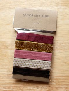 elastic hair ties -- autumn palette / etsy