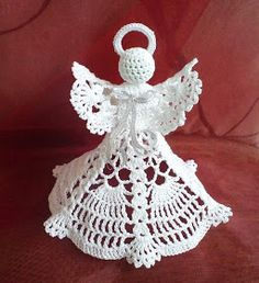 Crochet Patterns Christmas angels, stars and others on Stylowi. Quilted Christmas Ornaments, Crochet Christmas Decorations, Crochet Decoration, Crochet Ornaments, Holiday Crochet, Crochet Snowflakes, Christmas Angels, Thread Crochet, Filet Crochet