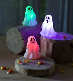 """These color-changing """"friendly ghosts"""" will complete your affordable halloween decoration ideas! (scheduled via http://www.tailwindapp.com?utm_source=pinterest&utm_medium=twpin)"""