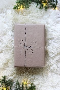 5 kraft paper christmas gift wrap ideas