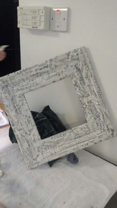 Upcycled charity shop mirror