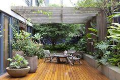 Pergola For Small Patio Terrace Design, Garden Design, Backyard Patio, Backyard Landscaping, Design Exterior, Vintage Garden Decor, Small Courtyards, Rooftop Garden, Pergola Shade