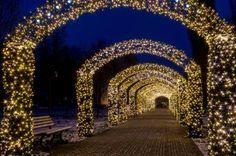 Tunel świetlny na Placu Grunwaldzkim