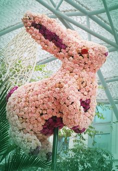 Floral sculpture, Chinese Zodiac Rabbit by barrysee. Get in-depth info on the Chinese Zodiac Rabbit personality & traits @ http://www.buildingbeautifulsouls.com/zodiac-signs/chinese-zodiac-signs-meanings/year-of-the-rabbit/