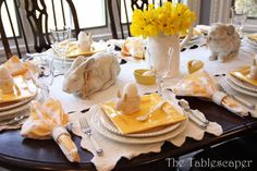 """7 Fabulous Spring Tablescapes - a Guest Post from """"The Tablescaper"""" at The Everyday Home"""