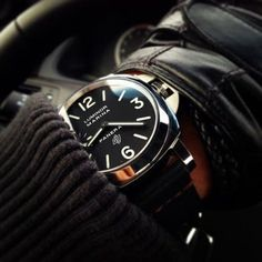 ' — Panerai Gentleman's Essentials Panerai Watches, Men's Watches, Luxury Watches, Cool Watches, Watches For Men, Panerai Luminor Marina, Gentleman Watch, Der Gentleman, Sexy Fotografie