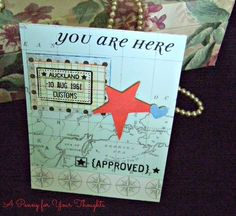 You Are Here Handmade All Occasion Card  | APENNY4URTHOUGHTS - Cards on ArtFire