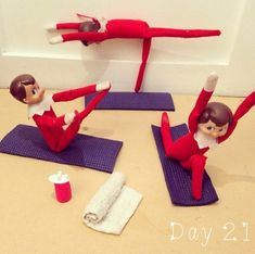 Yoga Class | 31 Elf On The Shelf Ideas Guaranteed To Win Christmas