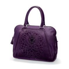 99752156e2 Brighton Joelle Soft Satchel has hand-sewn beading and its front panel  takes 10 hours
