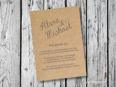 indiv. DIN A6 Hochzeitseinladung   First Love von for magic moments auf DaWanda.com