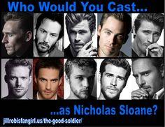 Who would make a good Nic Sloane? #TomHiddleston #ChrisHemsworth #MichaelFassbender #KeanuReees #fangirl #scifi #fantasy #TGS tinyurl.com/tgspreorder